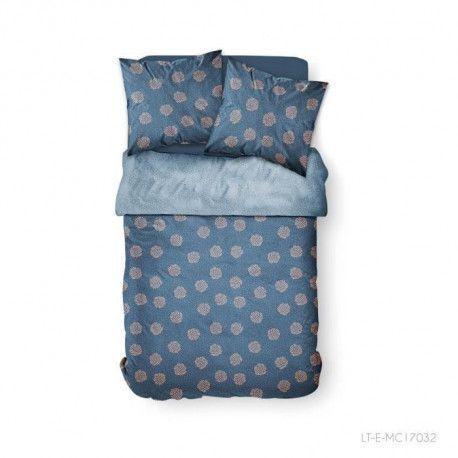 TODAY Parure de couette 100 % Coton 220x240cm SUNSHINE 3.36 - Bleu et rose