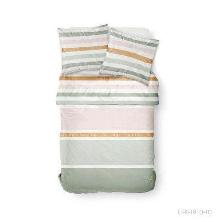 TODAY Parure de couette 100 % Coton 220x240cm SUNSHINE 3.40 - Vert et rose
