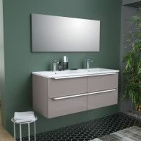 ZOOM Ensemble Meuble de salle de bain - L 120 - Taupe