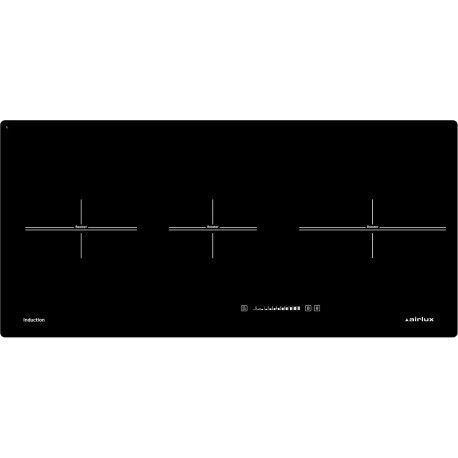 Airlux ATI83BK - Table de cuisson à induction - 3 plaques