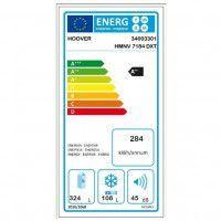 Réfrigérateur combiné 432L Froid Ventilé HOOVER 70cm A++, HOOVHMNV7184DXT