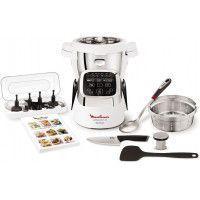 Moulinex Companion XL HF805810 - Robot cuiseur - 1550 W - 4,5 L - Blanc et noir