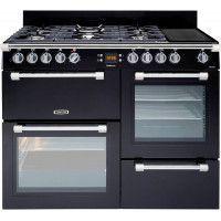 Leisure Cookmaster CK110F324K Gazinière - Gaz et électrique - 110 cm - 65 L - Compatible avec GPL - Noir