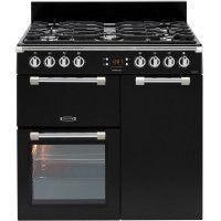 Leisure Cookmaster CK90F324K Gazinière - Gaz et électrique - 90 cm - Compatible avec GPL - Noir