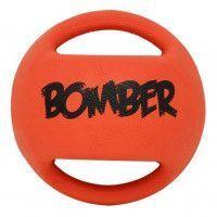 ZEUS Balle en caoutchouc Bomber 11,4 cm - Orange et noir - Pour chien