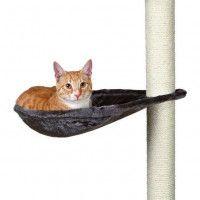TRIXIE Hamac - Nid XL pour griffoir pour chat gris platinium peluche o 40 cm