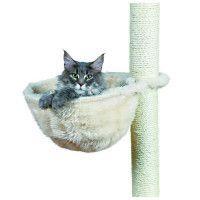 TRIXIE Sac confort pour arbre a chat o 38 cm creme peluche