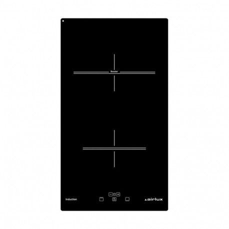 AIRLUX ATI322BK Domino induction - 2 foyer(s) - Touches sensitives - Noir - 29 cm