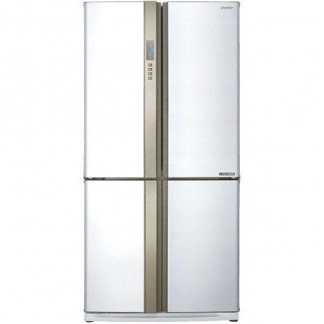 SHARP SJEXFWH Réfrigérateur Américain Portes Blanc Sharp - Refrigerateur 4 portes