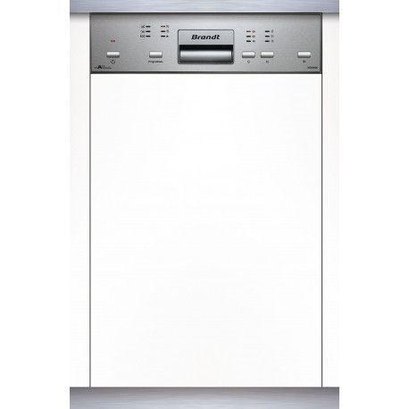 Lave-vaisselle encastrable - bandeau inox - Brandt