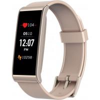 Tracker d'activité MyKronoz Rose poudré et argent avec capteur de rythme cardiaque