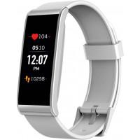 Tracker d'activité MyKronoz - Blanc et argent avec capteur de rythme cardiaque