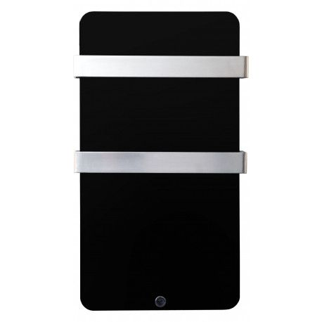 Radiateur Sèche-serviettes en verre extra-plat 600W (Noir)