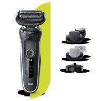 BRAUN Series 5 50-W4650cs Tondeuse barbe - 3 sabots - Station de charge - Technologie Wet+Dry - Autonomie 50min
