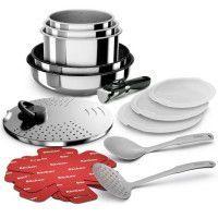 BACKEN 391699 - Batterie de cuisine 16 pieces inox - Tous feux dont induction