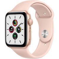 Apple Watch SE GPS, 44mm Boitier en Aluminium Or avec Bracelet Sport Rose des Sables