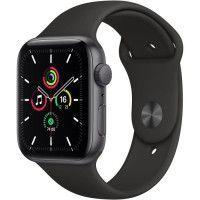 Apple Watch SE GPS, 44mm Boitier en Aluminium Gris Sideral avec Bracelet Sport Noir
