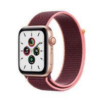Apple Watch SE GPS + Cellular, 44mm Boitier en Aluminium Or avec Bracelet Sport Prune