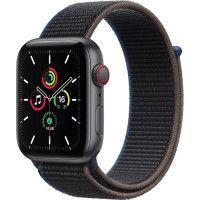 Apple Watch SE GPS + Cellular, 44mm Boitier en Aluminium Gris Sideral avec Bracelet Sport Charbon