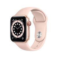 Apple Watch Series 6 GPS + Cellular, 40mm Boitier en Aluminium Or avec Bracelet Sport Rose des Sables