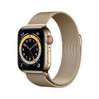 Apple Watch Series 6 GPS + Cellular, 40mm Boitier en Acier Inoxidable Or avec Bracelet Milanais Or