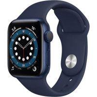 Apple Watch Series 6 GPS, 40mm Boitier en Aluminium Bleu avec Bracelet Sport Bleu Intense