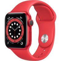 Apple Watch Series 6 GPS, 40mm Boitier en Aluminium PRODUCTRED avec Bracelet Sport PRODUCTRED