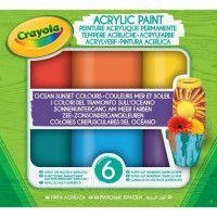 GOLIATH Peinture acrylique Crayola - Ocean Sunset Colours