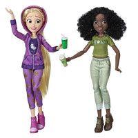 Disney Princesses - Poupees tendances Comfy Squad Raiponce et Tiana - 30 cm