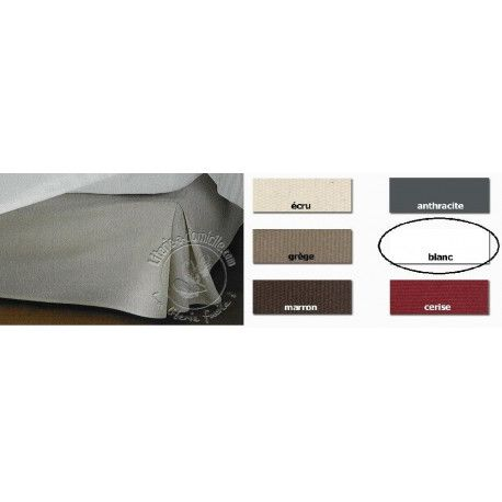 Cache Sommier Tradilinge Teck Blanc 160x200