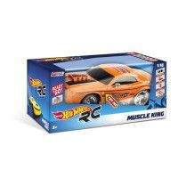MONDO - Hot Wheels - Muscle King - Voiture Radiocommandee - sons et lumieres - echelle 1/16eme - Garcon - Mixte - A partir de 3