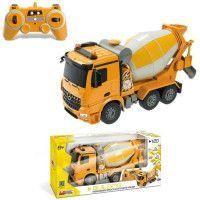 MONDO - Vehicule radiocommande - Mercedes Arocs - Camion betonniere - Sons + lumieres - Echelle 1:20eme - Garcon - A partir de 3