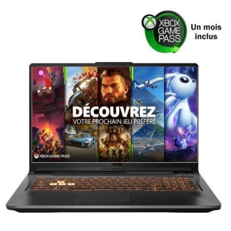 ASUS PC Portable Gamer TUF706IU-H7012T 17,3 FHD 120Hz - Ryzen 7-4800HS - RAM 16Go - GTX 1660Ti 6Go - Stockage 512Go SSD - Win 10