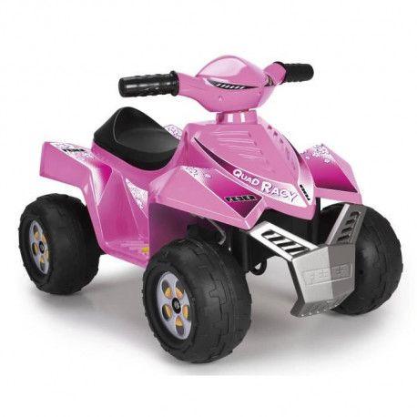 FEBER - Quad Racy Pink - Vehicule Electrique pour Enfant 6 Volts