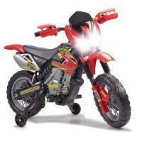 FEBER - Moto Cross 400F - Vehicule Electrique pour Enfant 6 Volts