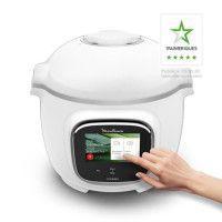 MOULINEX CE901100 Multicuiseur intelligent Haute pression Cookeo Touch Ecran tactile 250 recettes 13 modes - Blanc