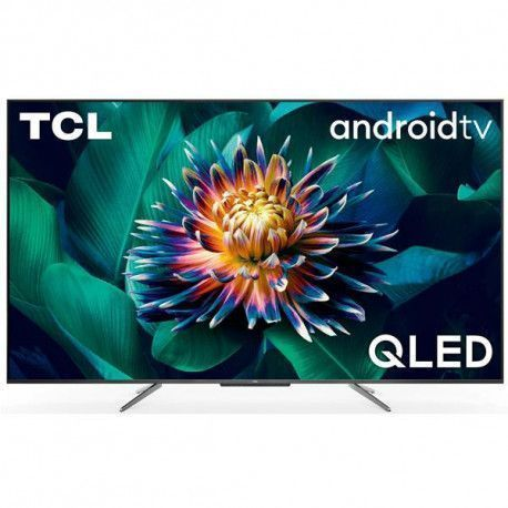 TCL TV LED 55 QLED UHD HDR, HDR10+, DOLBY VISION-ATMOS, ANDROID TV, Pieds TCL - 55C715