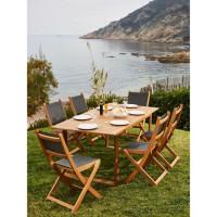 BOCARNEA Table acacia Levata - 180 cm