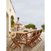 BOCARNEA Table extensible acacia Levata Papillon - 180-240 cm