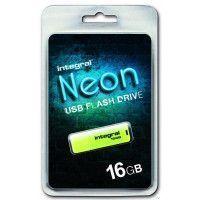 Clé USB INTEGRAL NEON JAUNE 16 GB