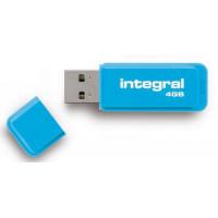 INTEGRAL Clé USB INTEGRAL NEON BLEU 4 GB
