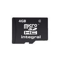 INTEGRAL Carte micro SDHC INTEGRAL MICROSDHC 4 GB-CL 4
