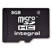 INTEGRAL Carte micro SDHC INTEGRAL MICROSDHC 8 GB-CL 4