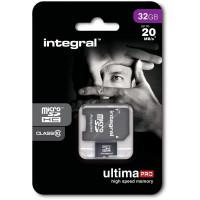 INTEGRAL Carte micro SDHC INTEGRAL MICROSDHC 32 GBCL 10