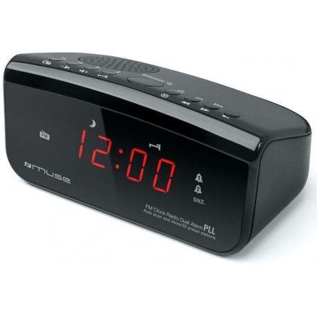 Radio réveil MUSE M 12 CR Noir