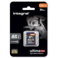 Carte SDHC INTEGRAL SDHC  CL 10/80 - 256 Go