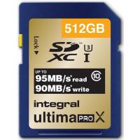 INTEGRAL Carte SDXC INTEGRAL SDXC 512 GO CL 10 95/90