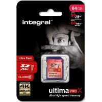 INTEGRAL Carte SDXC INTEGRAL SDX 64 G 10-95/60