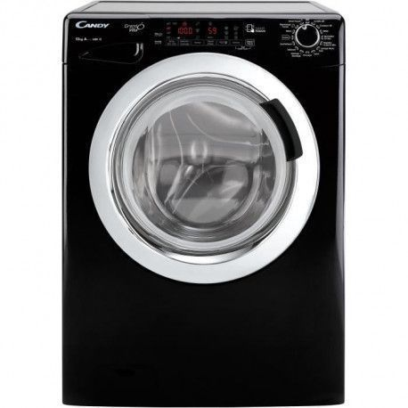 CANDY DVS1410THC3B - Lave linge frontal - 10 kg - 1400 tours / min - A+++ - Noir - Moteur induction