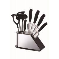Peterhof Peterhof PH-22382 Ensemble de couteaux et accessoires de cuisine, avec support&8203 9 pcs